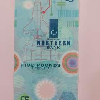Northern Ireland Polymer 5 Pound