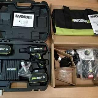 Worx無刷衝擊批無刷三用電鑽套裝