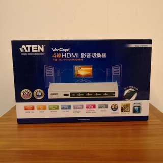 🚚 ATEN 4埠 HDMI 影音切換器 (VS481A) 四進一出型