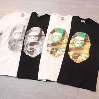 Bape tee with 4 colors