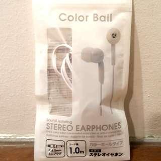 Color Ball Stero Earphones