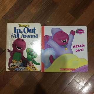 Pre-loved barney board books x 2