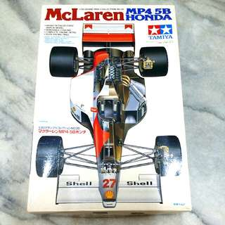 1/20 Tamiya McLaren MP4/5B Honda  *Vintage Set*  (Plastic F1 Racing Car Scale Model)