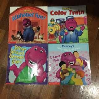 Pre-loved barney paperback books x 4