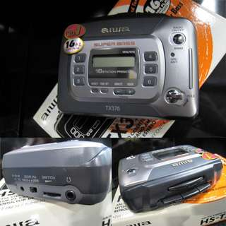 HARD TO FIND - VINTAGE BRAND NEW OLD STOCK AIWA WALKMAN WITH DIGITAL SYNTHESIZER RADIO (PROBABLY NEED TO REPLACE CASSETTE BELTING BE4 CAN BE USE OVER $100) WAREHOUSE CLEARANCE $35