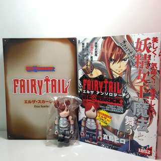 Be@rbrick Fairy tail- Erza Scarlett (Includes Fairy Tail Erza Anthology Manga by Mashima Hiro)