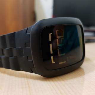 Swatch touch black rubber
