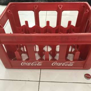 [ORIGINAL] Vintage Coca-Cola Red Plastic Crates
