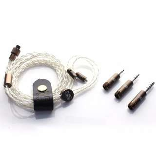 NetSound Cable MMCX 升級線 OCC 高純度鍍銀 4蕊 支援 3.5mm 2.5mm 4.4mm 平衡 插頭