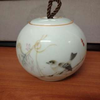 Vintage porcelain tea container