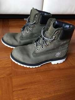(大平賣)Timberland鞋墨綠色、內容皮、(冇原裝鞋墊(图3⃣️內側有少少點花、其他仲新淨