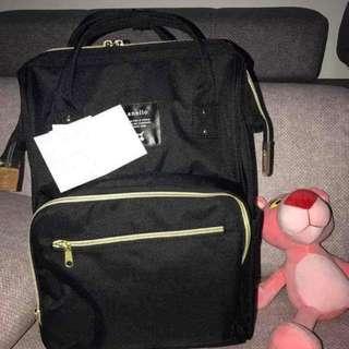 Black Anello Diaper Bag