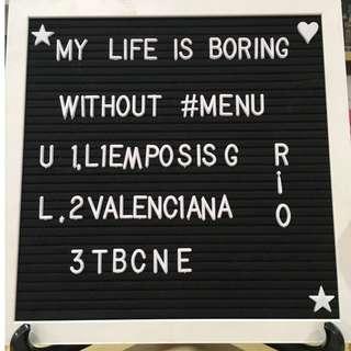 ❤️❤️ Felt Letter Memo Board 30x30cm