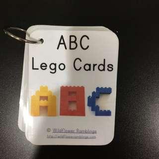 Home-made resource - abc lego cards