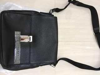 Prada full leather shoulder bag