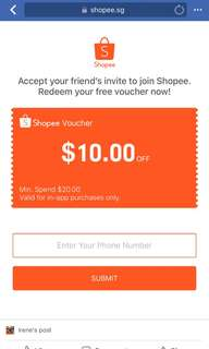 Shopee welcome voucher