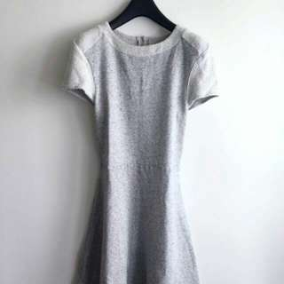 Asos grey heather marle sweater dress uk12