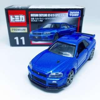Takara Tomy Tomica 11 Nissan Skyline GTR V Spec II