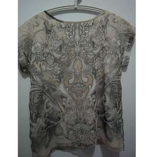 Accent Grey Printed Blouse