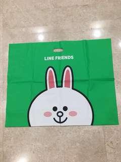 Line friend big plastic bag