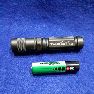 Tank 007 mini AAA flashlight