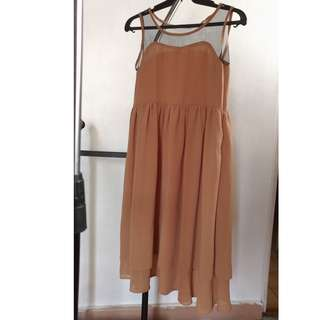 Unarosa Brown Long Dress