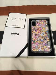 Brand New Casetify Emoji iPhone X Case