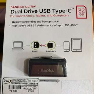 (徵收)USB 32G FOR TYPE-C sandisk