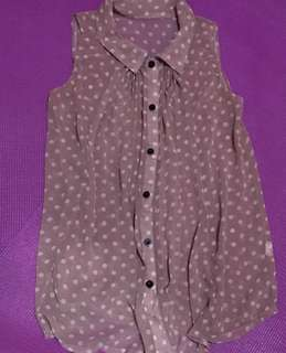 Sleeveless Polka Top