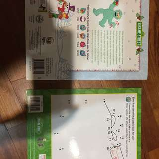 Brand new wipe clean sesame street activity books x 2