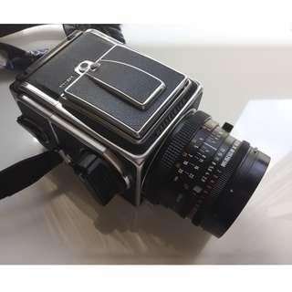 Hasselblad 500cm with Planar 80mm 2.8 T + 2 A12 backs