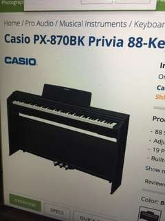Casio 88Key digital paino (black)