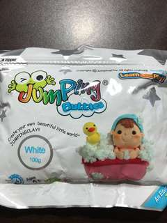 White Jumping Air Dry Clay Special Bubbles Effect