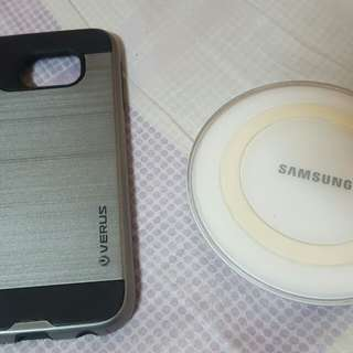 wireless charger - samsung s6 and case 200..