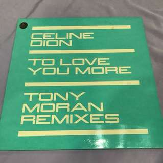 "Celine Dion -To Love You More 12"" Single"