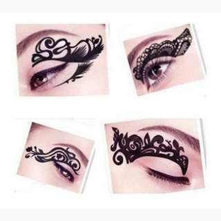 Temporary Tattoo Eye Rock Lace Sticker Eyeshadow Liner Eyelid Makeup Decoration Tools super model