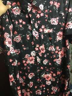 Floral print polo mens
