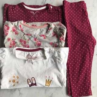 Mothercare Baby Girl Long sleeves set