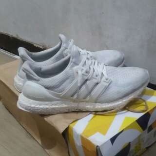 Authentic Triple White Adidas UltraBoost v2