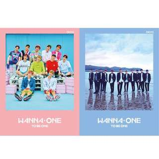 WANNA ONE to be one/debut album ( pink / sky version )