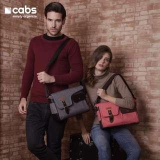 Cabs Pocket Oslo - Tas Selempang Untuk Pria & Wanita. Tas Laptop 12 Inch. Tas Kamera - Peach
