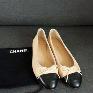 Chanel Flat Shoes Size 37.5