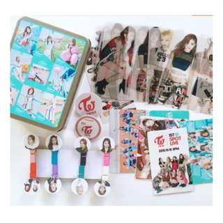TWICE combination storage box gift card bookmark clip
