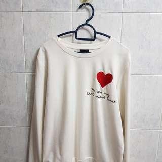 Heart shape Pullover