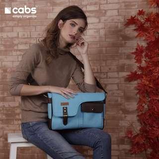 Cabs Pocket Oslo - Tas Selempang Untuk Pria & Wanita. Tas Laptop 12 Inch. Tas Kamera - Aqua Blue
