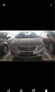Toyota Altis for lease