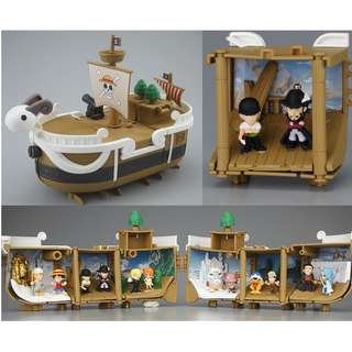 One Piece Going Merry & Thousand Sunny Memorial Log Ship