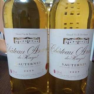Chateau Andoyse du Hayot 2009 甜酒