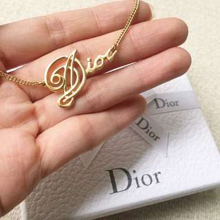 AUTHENTIC DIOR Gold Tone Necklace