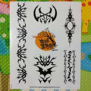 迪士尼黑色世界紋身貼紙
